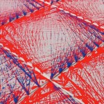 Productive Limitations [Red & Blue] 2013 [Detail 3] - Alison Snowball